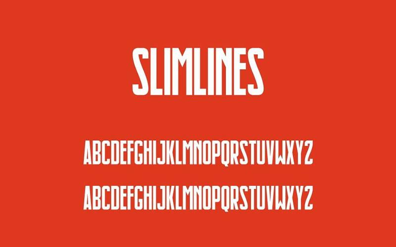 Slimlines-Font-Family-Download