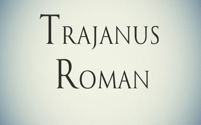 Trajanus Roman Font Family Free Download