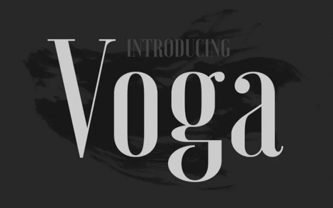 Voga Font Family Free Download