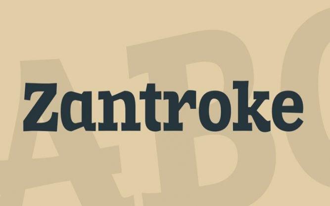Zantroke Font Family Free Download