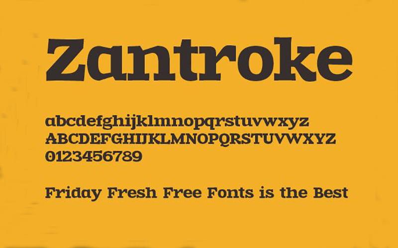 Zantroke Font Free Download