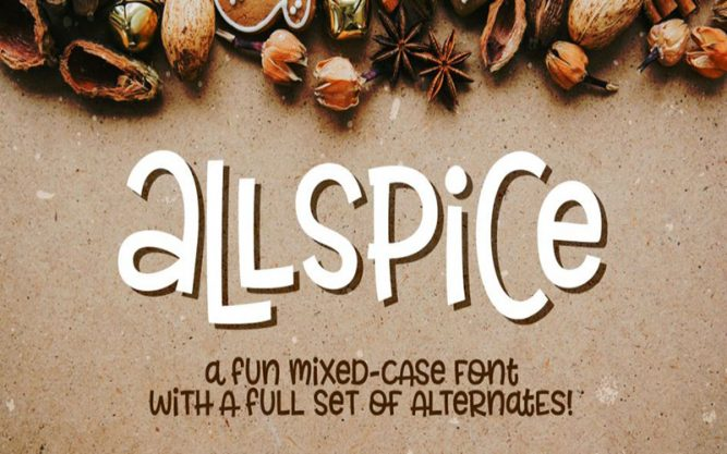 Allspice Font Family Free Download