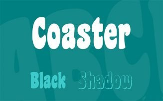 Coaster Font Black Shadow Family Free Download